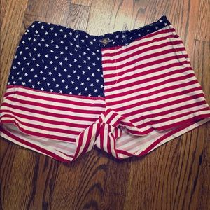 Chubbies Miss Merica Women's Flag shorts size L